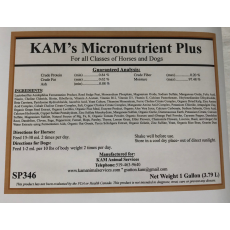 KAM's Micronutrients Plus - 1gallon